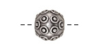Antique Silver (plated) Nailed Round 14mm