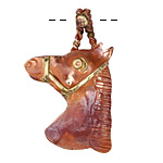 Patricia Healey Copper Horse Head Pendant 26x42mm