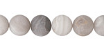 White Lace Agate (matte) Round 10mm