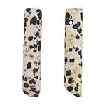 Dalmatian Jasper (matte) Cylindrical Wedge Pendant 9-10x46-50mm
