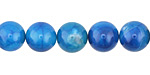 Aqua Blue Line Agate Round 10mm