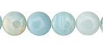 Amazonite Puff Coin 12mm