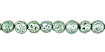 Metallic Mint (plated) Lava Rock Round 6mm