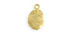 Vintaj 10K Gold (plated) Hammered Oval 11x16mm