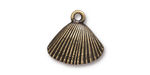 TierraCast Antique Brass (plated) Shell Charm 18x17mm