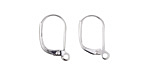 Silver (plated) Leverback Earring w/ Open Loop 10x15mm