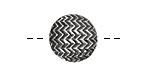 Pewter Chevron Button 17mm