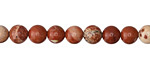 Red Bend Jasper Round 6mm