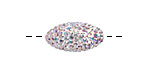 Crystal AB Pave (w/ Preciosa Crystals) Rice 19x10mm (1.5mm hole)