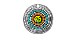 Zola Elements Antique Silver (plated) Garden Blossoms Medallion Coin Pendant 21mm