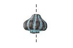 Greek Copper Patina Garlic Bulb 13x16mm