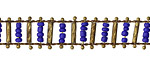 Zola Elements Cobalt Bead w/ Textured Brass Bars on Brass Chain