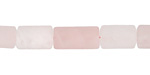 Rose Quartz (matte) Tube 12x8mm
