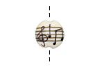 Grace Lampwork Musical Notes Lentil 15mm