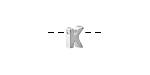 "Sterling Silver Letter ""K"" Charm Slide 6mm"