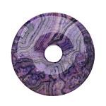 Purple Crazy Lace Agate Donut 40mm