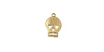 Gold (plated) Flat Skull Charm 8x11mm