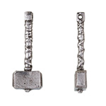 Green Girl Pewter Mjölnir Pendant 14x37mm