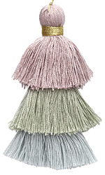 Subtle Mist Mix 3-Tiered Tassel 75mm