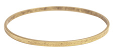 Nunn Design Antique Gold (plated) Large Flat Bangle Bracelet 70mm