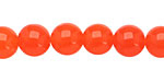 Neon Orange Colorful Jade Round 10mm