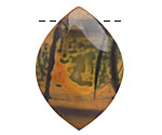 Purple Artistic Stone Freeform Drop Pendant 22-27x33-40mm
