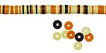 African Trade Monarch Vinyl/Vulcanite Heishi 4mm