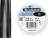 "Beadalon Black .018"" 49 Strand Wire 10ft."