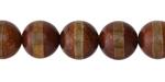 Tibetan (Dzi) Agate (dark) Banded Round 12mm