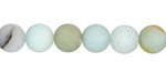 Black Gold Amazonite (matte) Round 8-8.5mm