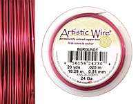 Artistic Wire Burgundy 24 gauge, 20 yards