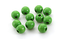 Kelly Green Wood Round 10mm