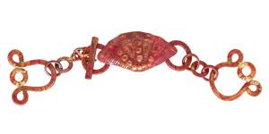 Patricia Healey Copper 3 Strand Clam Toggle 125x26mm, 22mm bar