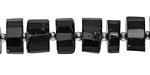 Black Tourmaline Faceted Disc 6-8x12mm