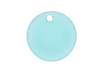 Turquoise Bay Recycled Glass Concave Coin 24mm