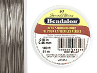 "Beadalon Bright .018"" 19 Strand Wire 100ft."