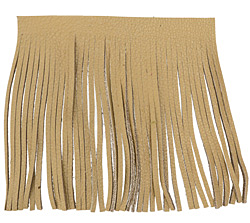 Natural Leather Tassel Fringe 5 inch square
