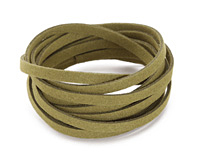 Olive Microsuede Flat Cord 5mm