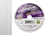 "Soft Flex Extreme Sterling Silver .014"" (Fine) 19 Strand Wire 30ft."