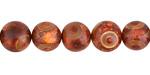 Tibetan (Dzi) Agate (rust) Round 10mm