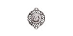 Zola Elements Antique Silver (plated) Ironwork Medallion Focal Link 12x15mm