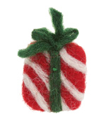 Felt Stripe Wrapped Christmas Present 26-30x33-38mm