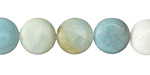 Black Gold Amazonite (light) Puff Coin 12mm