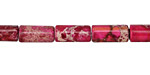Ruby Impression Jasper Tube 12x6mm