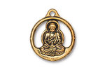 TierraCast Antique Gold (plated) Openwork Buddha Pendant 21x24mm
