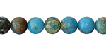 Ocean Blue Impression Jasper Round 8mm