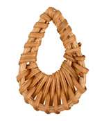 Natural Rattan-Style Woven Teardrop Focal 30-35x46-51mm