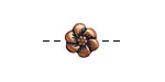 Antique Copper (plated) Buttercup 11mm