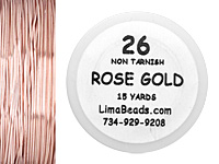 Parawire Rose Gold 26 Gauge, 15 Yards