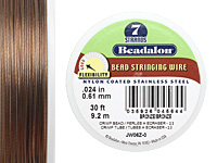 "Beadalon Nylon Coated Stainless Steel .024"" 7 Strand Wire 30ft."